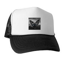 Siamese Cat B&W Photo Art Trucker Hat