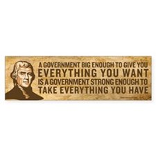Jefferson Big Government Bumper Car Sticker
