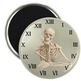 "13 Hour Skeleton Clock 2.25"" Magnet (100 pack)"
