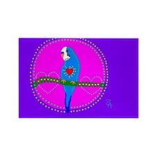 Parakeet Rectangle Magnet