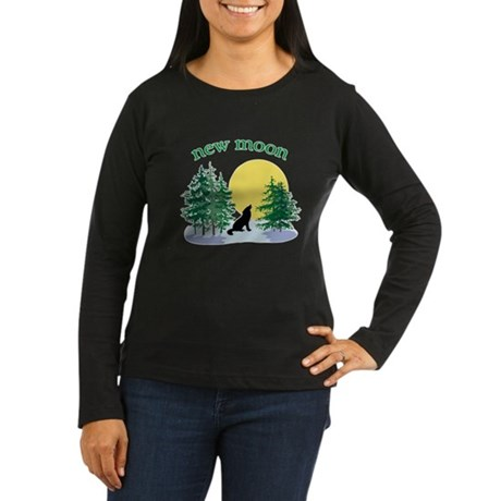 New Moon Howl Women's Long Sleeve Dark T-Shirt