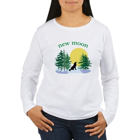 New Moon Howl Women's Long Sleeve T-Shirt