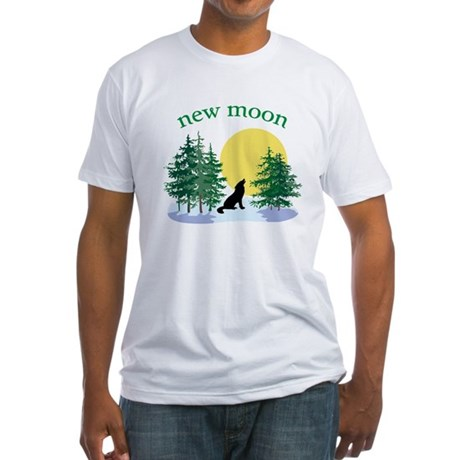 New Moon Howl Fitted T-Shirt
