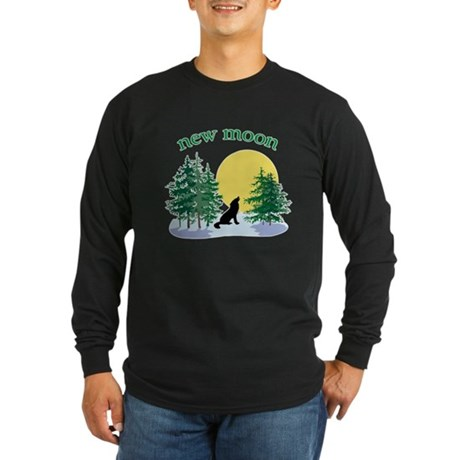 New Moon Howl Long Sleeve Dark T-Shirt