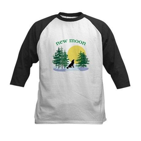 New Moon Howl Kids Baseball Jersey