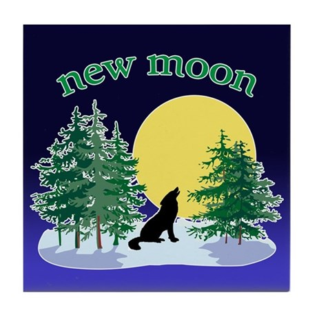 New Moon Howl Tile Coaster