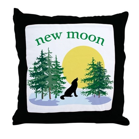 New Moon Howl Throw Pillow