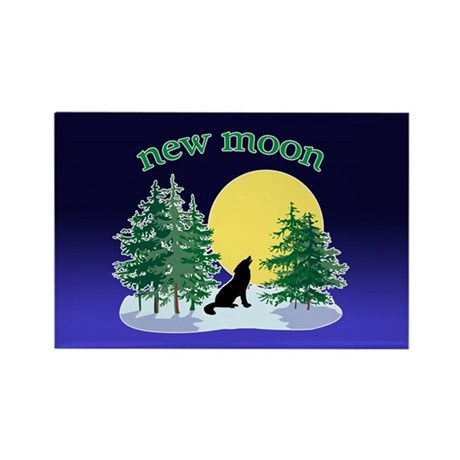 New Moon Howl Rectangle Magnet