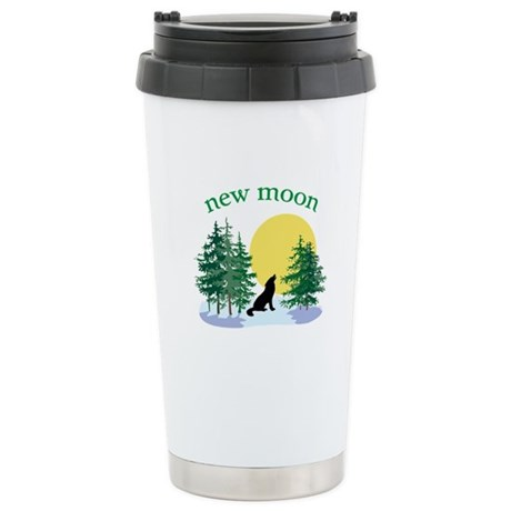 New Moon Howl Ceramic Travel Mug