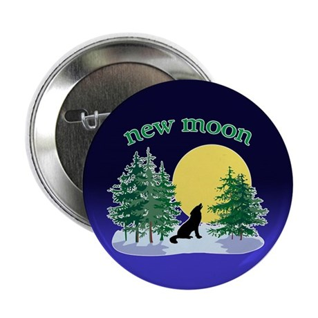 "New Moon Howl 2.25"" Button (100 pack)"