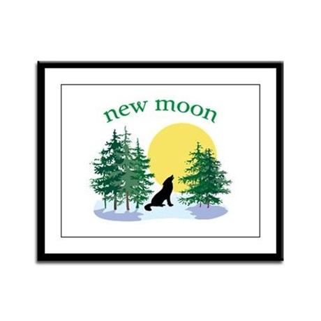 New Moon Howl Framed Panel Print