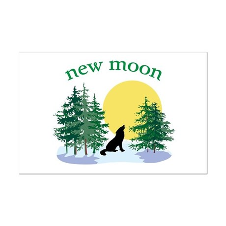 New Moon Howl Mini Poster Print