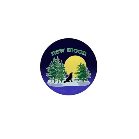 New Moon Howl Mini Button