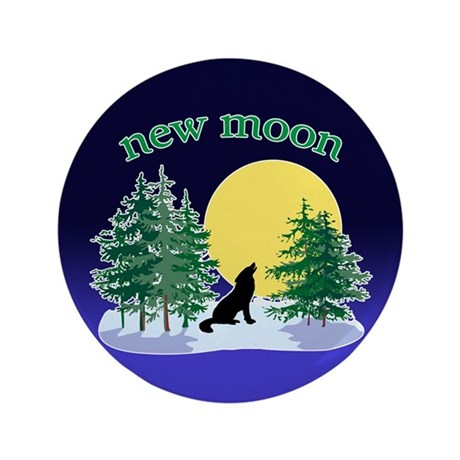 "New Moon Howl 3.5"" Button"