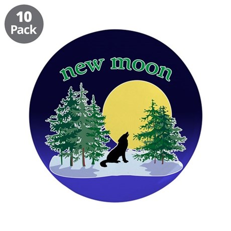 "New Moon Howl 3.5"" Button (10 pack)"