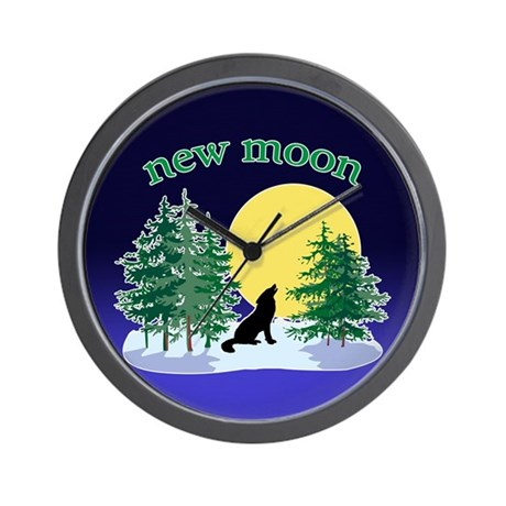 New Moon Howl Wall Clock