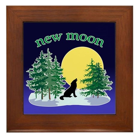 New Moon Howl Framed Tile
