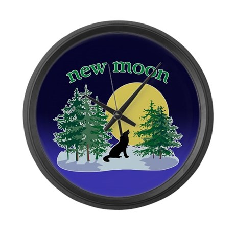 New Moon Howl Large Wall Clock