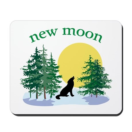 New Moon Howl Mousepad