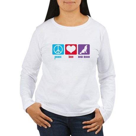 Peace Love New Moon Women's Long Sleeve T-Shirt