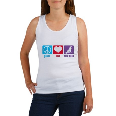 Peace Love New Moon Women's Tank Top