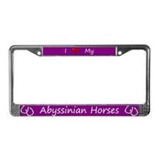 Purple I Love My Abyssinian Horses Frame