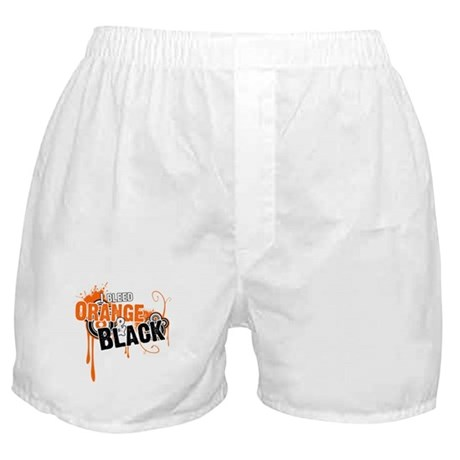 Orange &amp;amp; Black Boxer Shorts