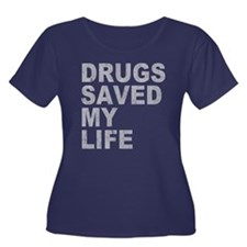 Drugs Saved My Life Women's Plus Size Scoop Neck D