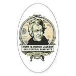 Irony is Andrew Jackson Oval Sticker (10 pk)