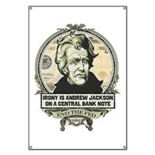 Irony is Andrew Jackson Banner