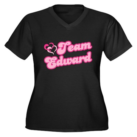 Team Edward Cullen Women's Plus Size V-Neck Dark T