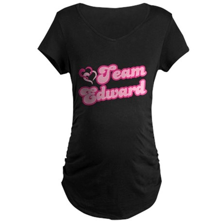 Team Edward Cullen Maternity Dark T-Shirt