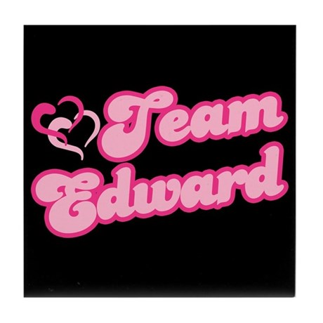 Team Edward Cullen Tile Coaster