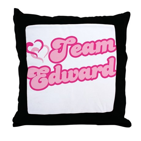 Team Edward Cullen Throw Pillow