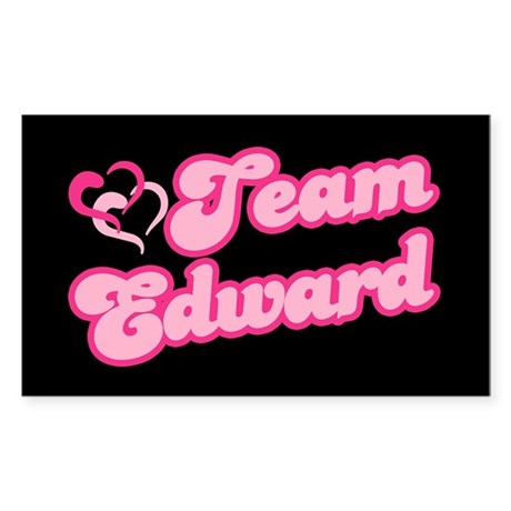 Team Edward Cullen Rectangle Sticker