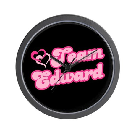 Team Edward Cullen Wall Clock