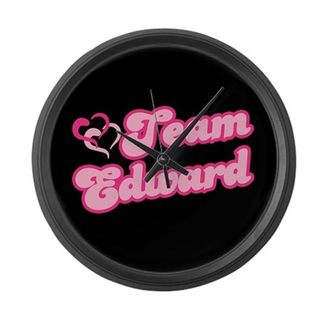 Team Edward Cullen Large Wall Clock