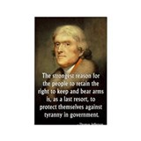 Jefferson, Strongest Reason to Retain Arms Rectang