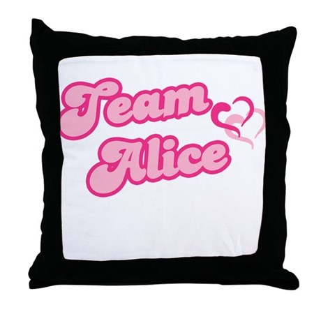 Team Alice Cullen Throw Pillow