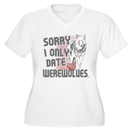 Sorry Women's Plus Size V-Neck T-Shirt