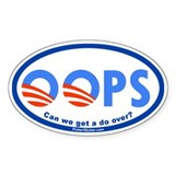 OOPS we elected Obama! (Oval 50 pk)