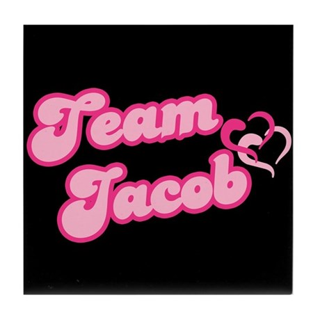 Team Jacob Black Tile Coaster