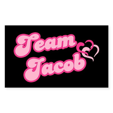 Team Jacob Black Rectangle Sticker