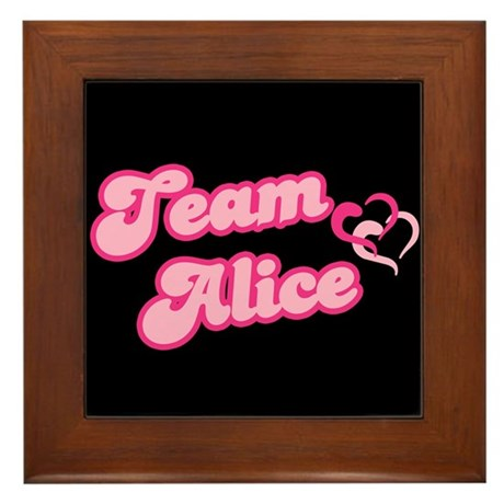 Team Alice Cullen Framed Tile