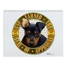 Min Pin Puppy Wall Calendar