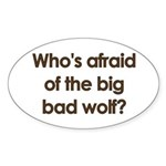 Big Bad Wolf Oval Sticker