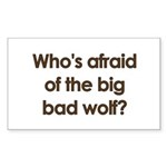Big Bad Wolf Rectangle Sticker