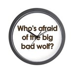 Big Bad Wolf Wall Clock