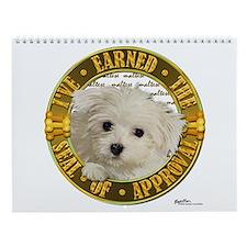 Maltese Puppy Wall Calendar