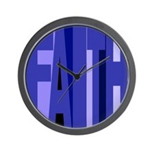 Blue Faith Wall Clock